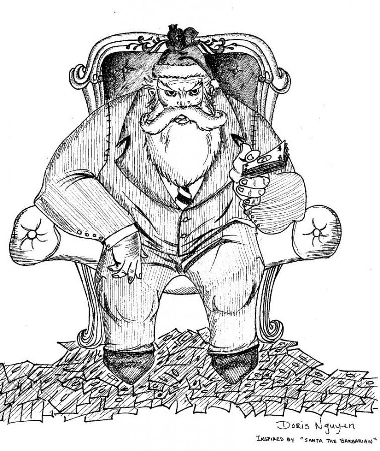 Illustrated by Doris Nguyen. Inspired by Santa the Barbarian.