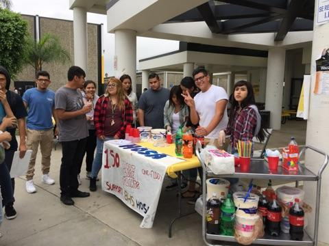 HOSA selling root beer floats.