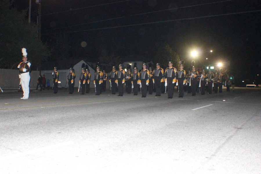 Band Marches Through the Holidays  at Local Parades and Competitions