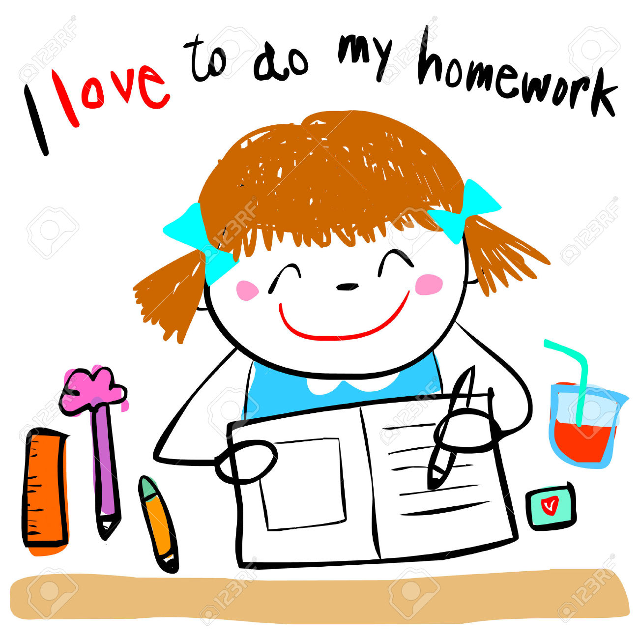 Do homework clipart